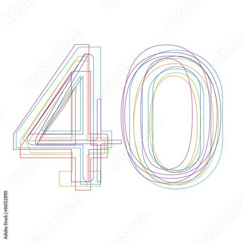 Fotografia  number 40 in outline