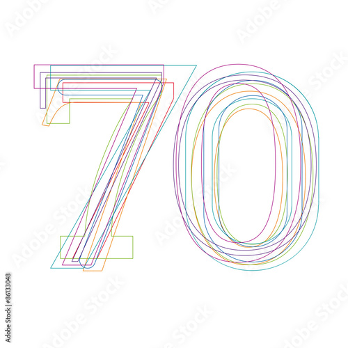 number 70 in outline Poster