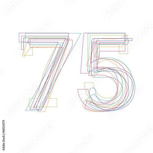 number 75 in outline Poster