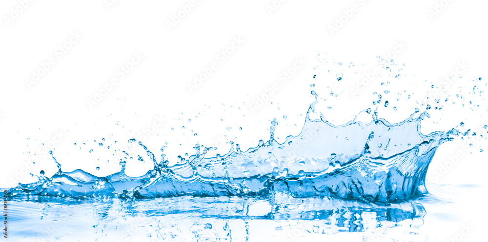Fototapeta blue water splash