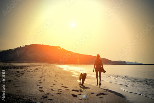 Fotografie, Obraz  Walk on the beach