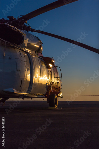 Canvas Prints Helicopter big military helicopter