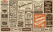 Mega Pack Old Advertisement Designs And Labels - Vintage Illustr