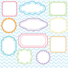 Colorful Frames Design Set