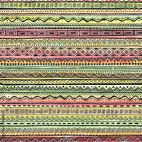 Foto auf AluDibond Boho-Stil Ethnic Pattern