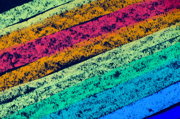 Fototapeta Abstrakcja crayon drawn rainbow spectrum