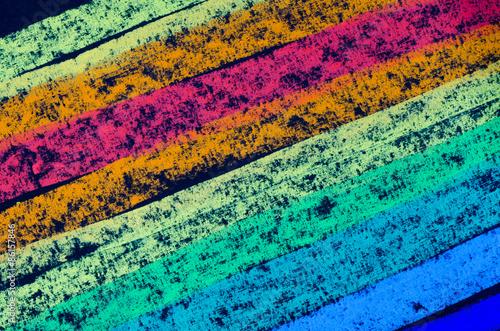 crayon drawn rainbow spectrum - 86157846