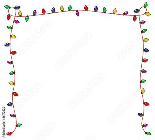 festive christmas lights frame - Christmas Lights Frame