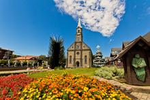 St. Peter's Church (Catedral De Pedra). Gramado City, Rio Grande Do Sul - Brazil