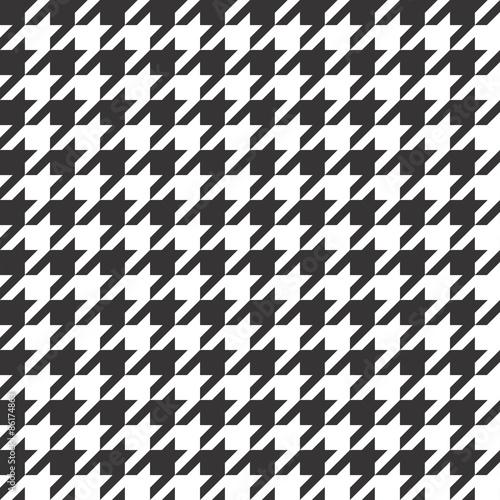 Canvas Print Pied de Poule Pattern