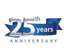25 Years Anniversary Logo Blue...
