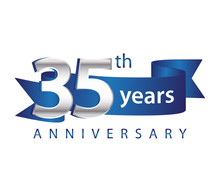 35 Years Anniversary Logo Blue...