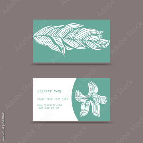Fototapety, obrazy: Green and white cards