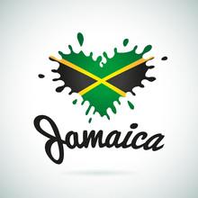 Love Jamaica Lettering Heart I...