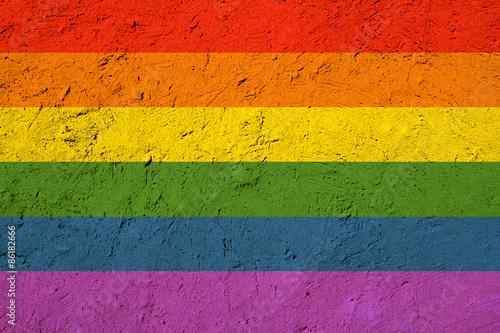 Foto  Grunge gay pride flag texture