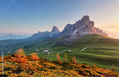 Stickers pour portes Alpes Landscape nature mountan in Alps, Dolomites, Giau