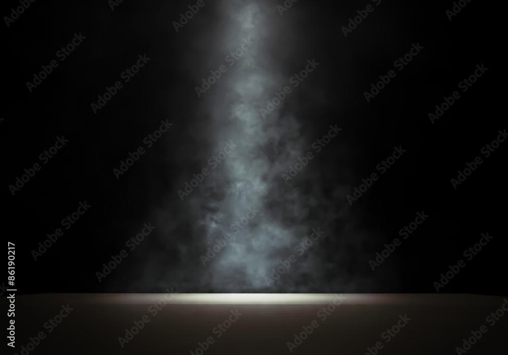 Fototapety, obrazy: Stage with a smoky spotlight