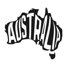 Australian Map With Text Insid...