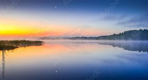 Photo Finnish archipelago and sunrise