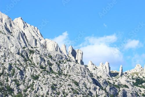 Fotografie, Obraz  Stone peaks on the mountain Velebit in Croatia