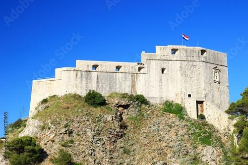 Papiers peints Fortification Fort Lovrijenac in Dubrovnik, Croatia