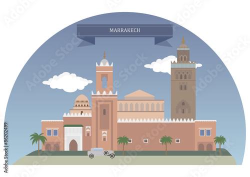 Poster Castle Marrakech, Morocco