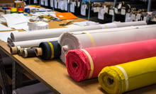 Fabric Rolls, Many Colors Asso...