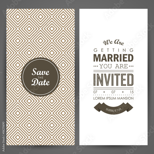 Fotografía  Wedding invitation. Vector illustration