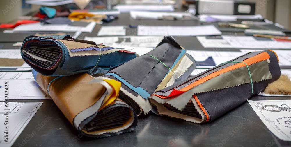 Fototapety, obrazy: Ritagli di tessuto colorato da vicino