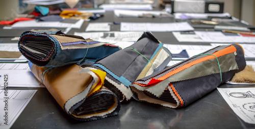 Fotografiet  Ritagli di tessuto colorato da vicino