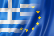 Greece And Europe Flag - 3D Il...