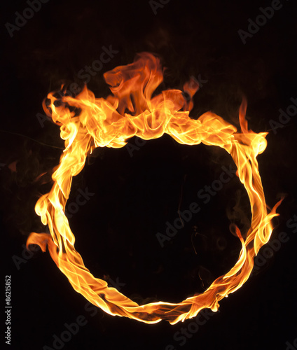 Photo Stands Fire / Flame fire flame on black background