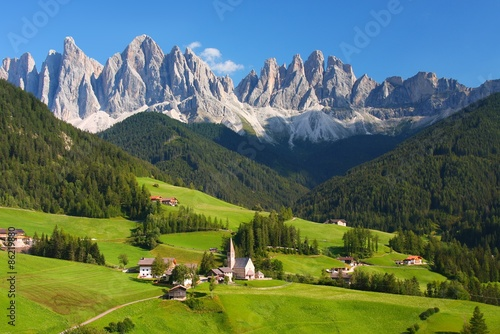 Foto auf Gartenposter Alpen The Dolomites in the European Alps