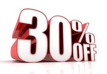 Thirty Percent Off Sale