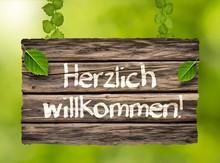 """""""Herzlich Willkommen!"""" - Holzs..."""