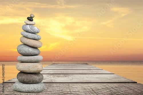 Recess Fitting Buddha Balance, Stone, Zen-like.