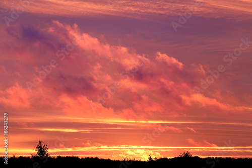 Spoed Foto op Canvas Koraal Photo sunset sky