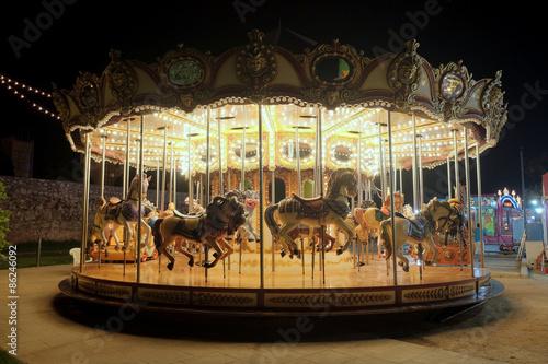 Papiers peints Attraction parc Vintage carousel