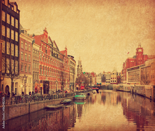 The Singel is one of the numerous canals in Amsterdam, Netherlands Wallpaper Mural