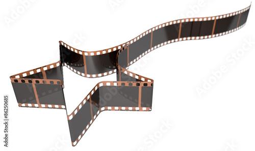 Papiers peints Retro Film Strip Shooting Star Curled