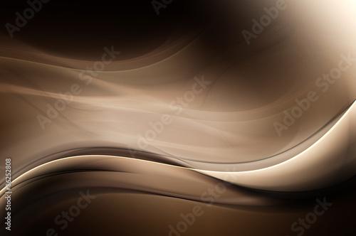 Obraz Brown Dark Light Abstract Waves Background - fototapety do salonu