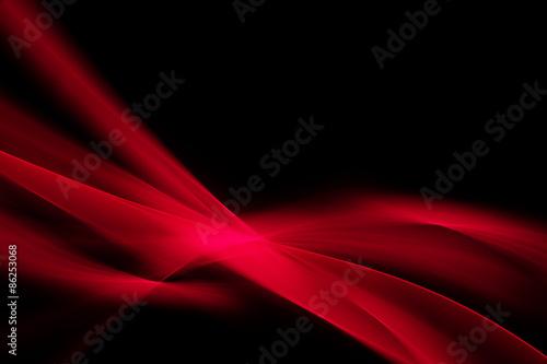 Nowoczesne czerwone światło streszczenie fale tło