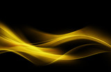 Fantastic Orange Yellow Light Abstract Waves Background - 86253832