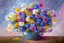 Oil Painting - Bouquet Of Wild...
