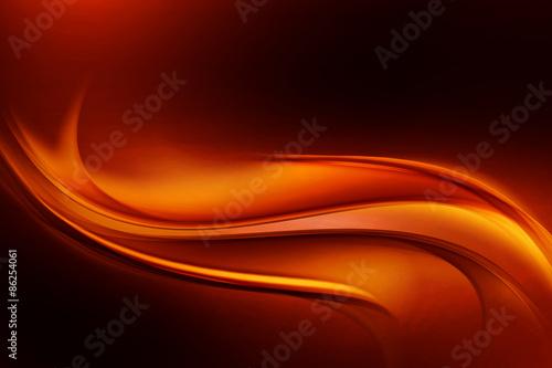 Dark Orange Modern Abstract Waves Background