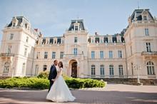 Wedding Couple On Background O...