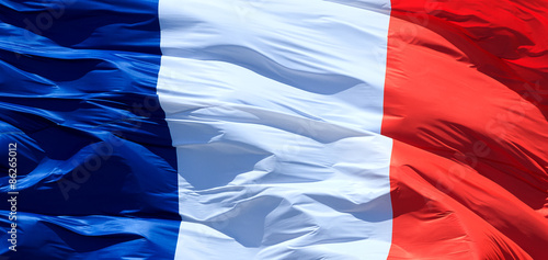 Closeup of French flag Fototapet