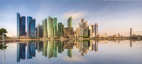 Singapore Skyline and view of Marina Bay Wallpaper Mural