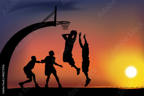 basketball Fotobehang