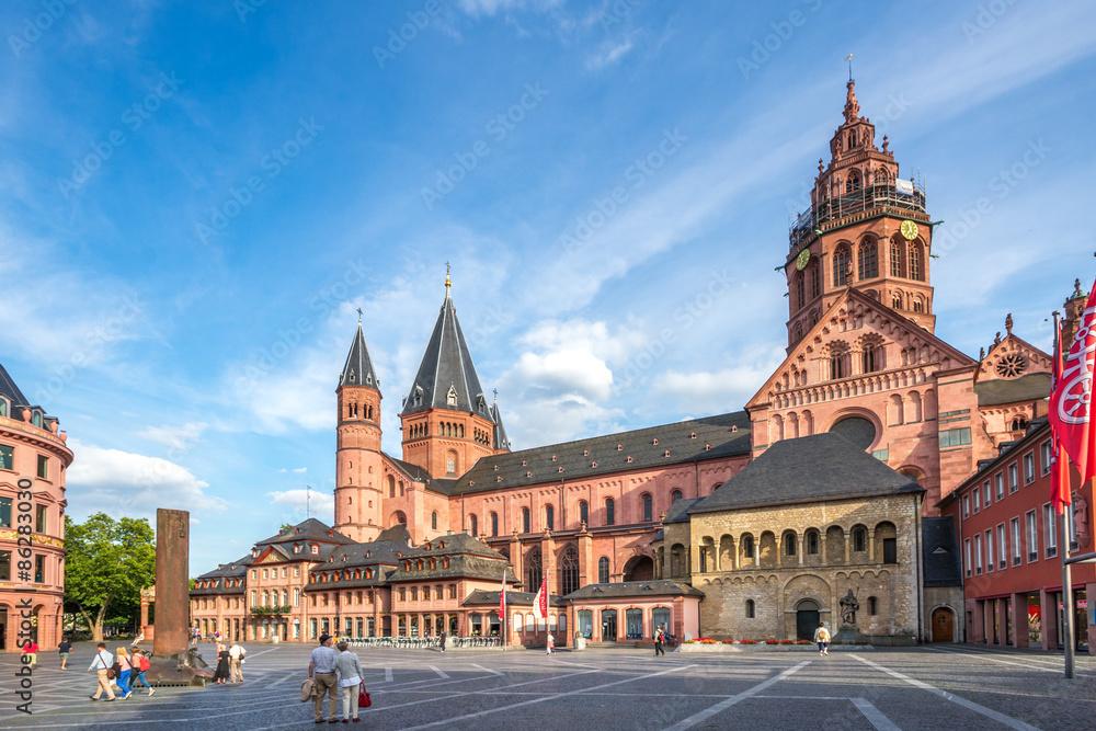 Fototapety, obrazy: Mainzer Dom und Domplatz